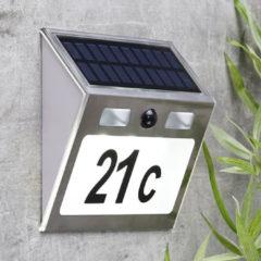 Roestvrijstalen Haushalt 60253 - Huisnummer verlichting - solar - bewegingsmelder