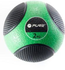 Pure2improve Medicine Ball 2 Kg Groen/zwart