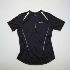 Fietsshirt Heren – Odlo – Korte Mouw en Rits – Zwart/Wit maat XL
