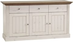DS Style Dressoir Monaco 145 cm breed in wit whitewash met steen