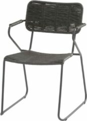Antraciet-grijze Taste by 4 Seasons Swing stapelbare dining stoel antraciet rope Taste 4SO - 1 stuk