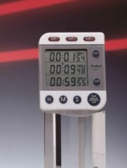 Grijze Hanhart timer digitaal model Labor 3 Timer 294.4994-00 1/1 sec.
