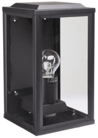 Afbeelding van Zwarte KS Verlichting K.S. Verlichting 'T Gooi Wandlamp 28 x 12 cm - Zwart