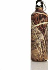 Boomug BiggDesign aluminium drinkfles | Voor koude en warme dranken | Speciaal kunstenaarontwerp | Roze kleur | Gezond en milieubewust ontwerp 750 ml | Praktisch mondstuk | bladmotief