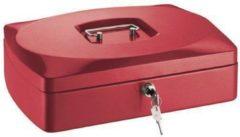 Geldkistje Alco 330x235x90mm staal rood