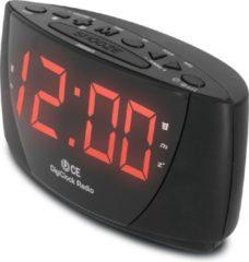 Zwarte Technisat Digiclock wekkerradio - FM-radio - 10 voorkeurzenders - twee alarmen