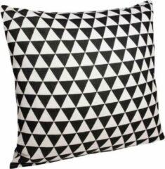 QUVIO Kussensloop 45 x 45cm driehoekjes / Kussenhoesje/ Kussenbeschermer / Omtrek kussen - Zwart en Wit