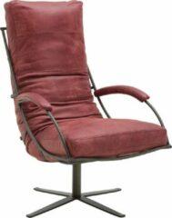 Rode Goossens Job fauteuil Leer