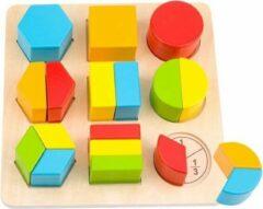Tooky Toy Blokkenpuzzel Vormen Junior 21 Cm Hout 19-delig