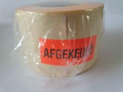 """Merkloos / Sans marque Sticker met """"Afgekeurd"""" erop - Formaat: 49 x 23 mm - Materiaal: rood radiant"""