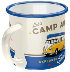 Nostalgic Art Merchandising Emaille Beker Volkswagen Bulli Let's Camp Away
