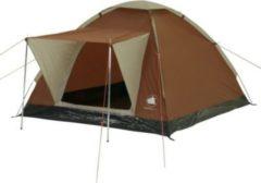 10-T Outdoor Equipment 10T Brownville 3 - Klassisches 3-Personen Kuppel-Zelt mit Wetterschutz-Eingang eingenähte Bodenplane WS=3000mm