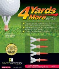 GreenKeepers 4 Yards More Golf Tee - Short - 1 3/4 inch - Rood