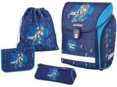 Herlitz Midi Plus Schulranzen-Set 4-tlg Blue Dino Herlitz blue dino