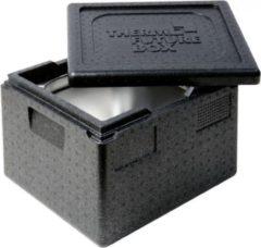 Zwarte Thermo Future Box Thermobox 1/2 GN 25 cm