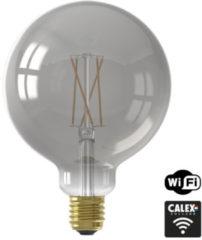 Calex - Led Lamp - Globe - Smart Led G125 - E27 Fitting - Dimbaar - 7w - Aanpasbare Kleur Cct - Grijs