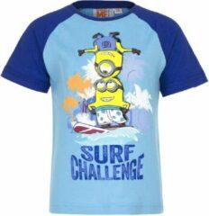 Minions Minion t-shirt - Surf Challenge - blauw - maat 122/128 (8 jaar)