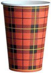 Merkloos / Sans marque Rood Karton - Kartonnen bekers 180 cc - 500 stuks - koffie bekers - wegwerp papieren bekers - drank bekers - milieuvriendelijk