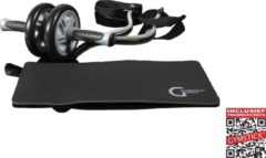 Gymstick Ab Wheel - Ab roller - incl. Weerstandskabels - Met Online Trainingsvideo's