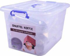 SnuffelStore Koffie Pads - Regular - geschikt voor SENSEO machine - VOORDEELVERPAKKING (6 x 50) 300 stuks - met opbergbox