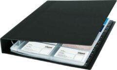 Sigel VZ301 Visitekaart ringboek 400 kaarten (b x h x d) 270 x 325 x 53 mm Zwart (mat) Kunststof
