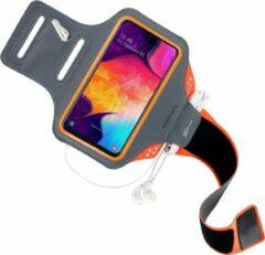 Oranje Mobiparts Comfort Fit Sport Armband Samsung Galaxy A40 (2019) Neon Orange