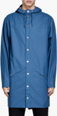 RAINS Women's Long Jacket - Faded Blue - XS-S - Blue