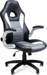 Zwarte Songmics Bureaustoel - Computer Stoel - Hoogte Aanpasbaar - Opvouwbare Armleuning - OBG28G
