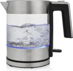 Roestvrijstalen Princess 236040 Glazen Waterkoker Brighton – 1L inhoud – Uniek ontwerp