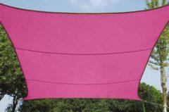 Velleman Schaduwdoek - Zonnezeil - Vierkant 3.6 X 3.6 M, Kleur: Fuchsia