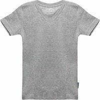 Claesens! Jongens Shirt Korte Mouw - Maat 104 - Grijs - Katoen/lycra