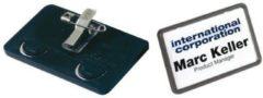 40x75mm Badge met Speld Durable 8130 Pak à 25 Stuks