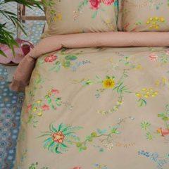 Kaki Pip Studio dekbedovertrek Fleur Grandeur khaki - lits jumeaux (240x200/220 cm incl. 2 slopen)