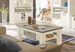 Couchtisch 120 x 65 cm Kiefer weiss/ taupe teilmassiv MCA-Furniture Catania
