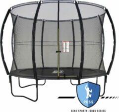 Trampoline - Senz Sports J5000 Series - 305 cm - Zwart - trampoline met elastieken