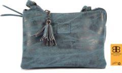 Tas - tasssen - bags - Bag- Bicky Bernard- Harmonica 3-Vaks tasje - schoudertasje - crossbody tasje - Navy - Donkerblauw