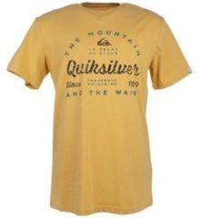Gele T-shirt Korte Mouw Quiksilver