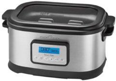 Zilveren ProfiCook PC-SV 1112 8l 520W Zwart, Roestvrijstaal multi cooker