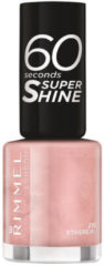 Huidskleurige Rimmel London Rimmel 60 Seconds Super Shine Nail Polish 8ml (Various Shades) - Ethereal Nude