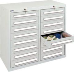 Stumpf Metall Stumpf® ST 420 plus Schubladenschrank mit 16 Schubladen, lichtgrau - 90 x 100 x 50 cm