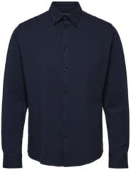 Donkerrode Selected Homme Oliver slim fit overhemd van biologisch katoen