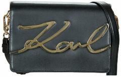 Zwarte Karl Lagerfeld Women's K/Signature Shoulder Bag - Black/Gold