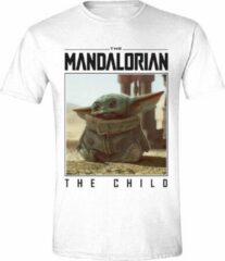 Star Wars The Mandalorian - The Child Photo Heren T-Shirt - Wit - XXL