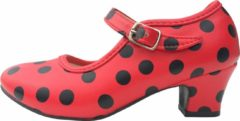 Spaansejurk NL Spaanse schoenen rood zwart maat 36 – valt als maat 34 (binnenmaat 22 cm) bij jurk