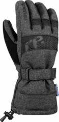Antraciet-grijze Reusch Connor R-TEX® XT Unisex Skihandschoenen - Black/Black Melange - 10