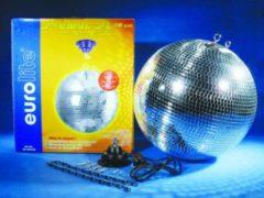 EUROLITE Spiegelbol set met motor - 40cm - Discobol - Spiegel bal - Disco Bal