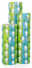 Blauwe Original Giftwrap Cadeaupapier Schaapjes Tellen - Rol 50cm - 200m - 70gr | Winkelrol / Toonbankrol / Geschenkpapier / Kadopapier / Inpakpapier
