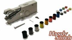 Zwarte Handy Switch Handy Stitch - PREMIUM Handnaaimachine met 16 Spoelen garen en accessoires - Compact - Draagbare reis naaimachine - Elektrisch of op Batterijen