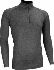 Antraciet-grijze Avento Sportshirt Lange Mouw - Heren - Antraciet mêlee/Zilver - S
