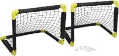 Dunlop 2x Opvouwbaar Voetbaldoel 50 Cm - Inklapbare Voetbaldoelen - Kinderspeelgoed - Buitenspeelgoed